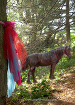Gossamer (Friesian) in the Faerie Wood