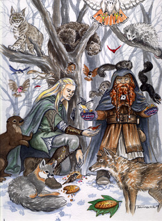Legolas and Gimli go to Fangorn